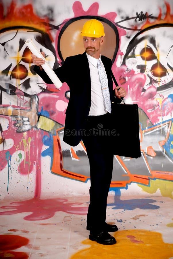 Supervisor do homem de negócios urbano foto de stock royalty free