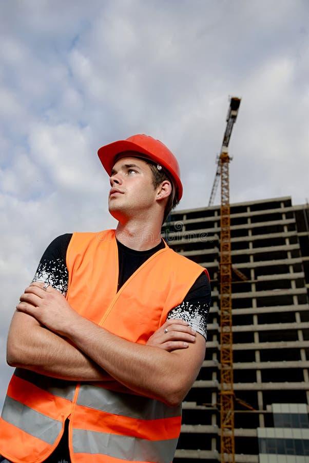 Supervisore della costruzione fotografia stock