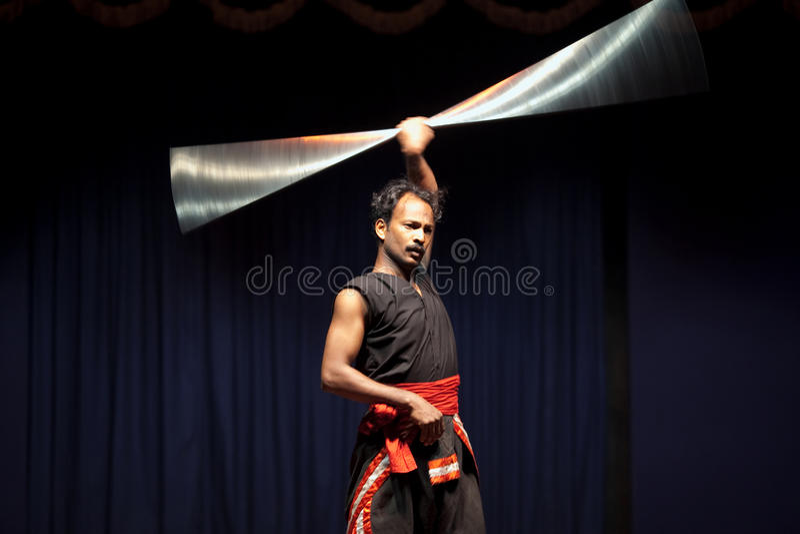 Supervisore di Kalarippayat fotografie stock libere da diritti