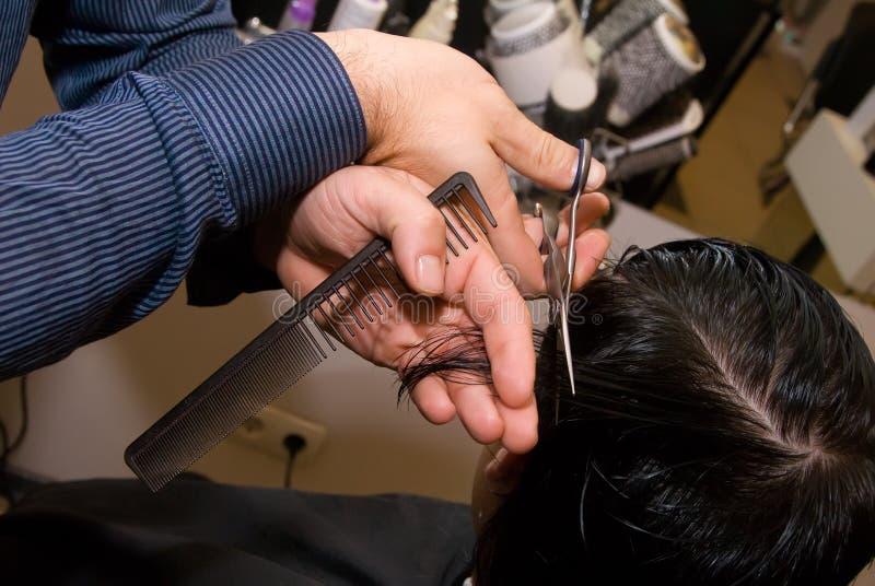 Supervisore maschio di capelli fotografie stock libere da diritti