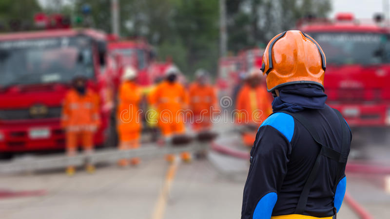 Supervisors firefighters. stock photography