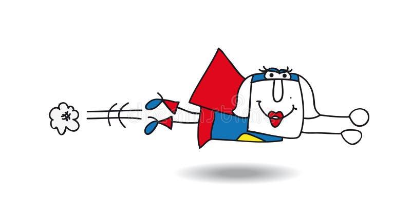 Superwoman de Karen illustration libre de droits