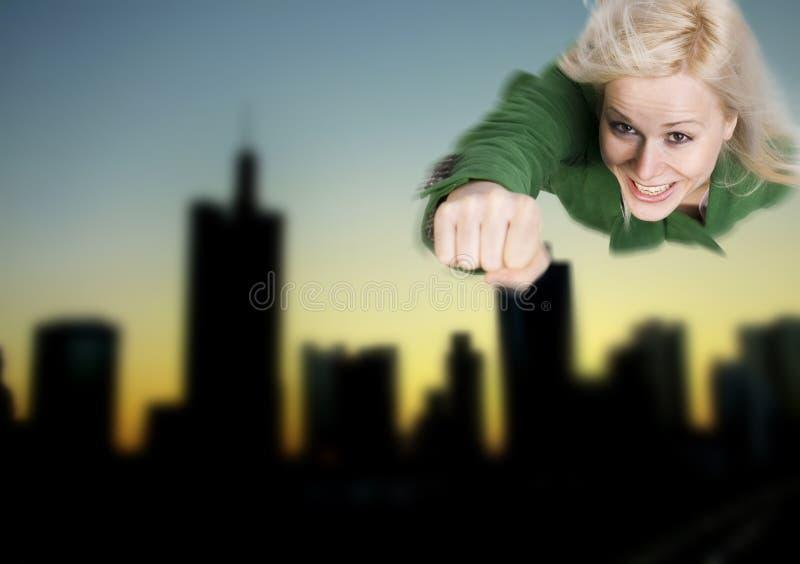 Superwoman hero royalty free stock photos