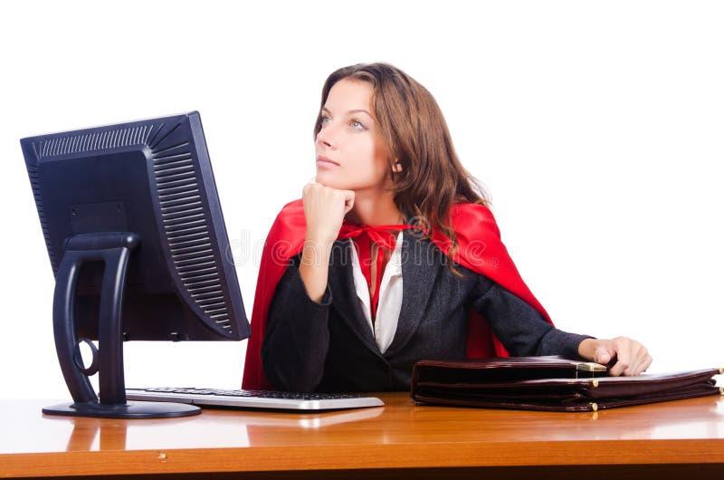Superwoman pracownik zdjęcia stock