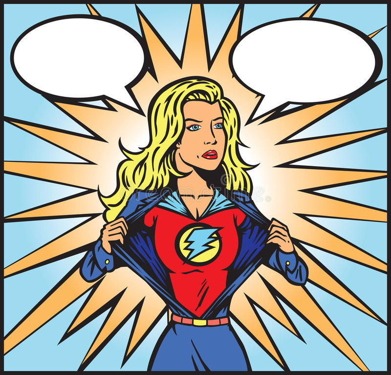 Superwomancomic illustration libre de droits