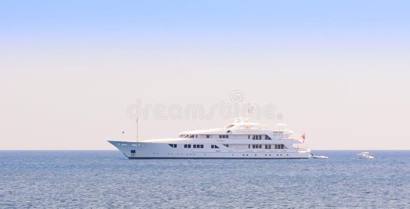 Superyacht luxuoso Callisto fotos de stock royalty free
