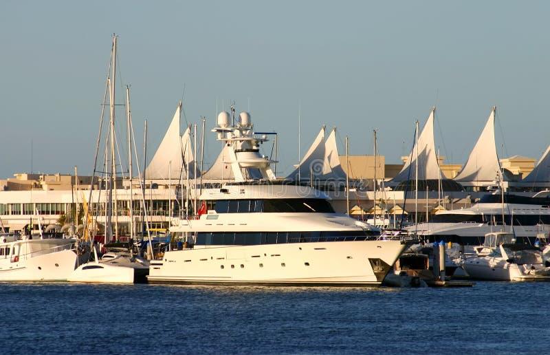 Superyacht no Gold Coast foto de stock