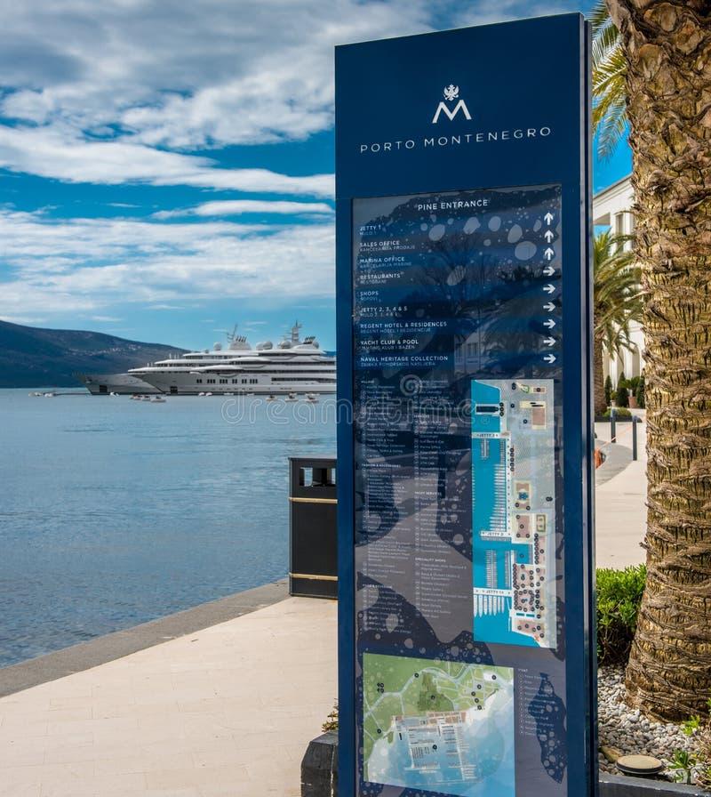 Superyachts på Porto Montenegro arkivfoto