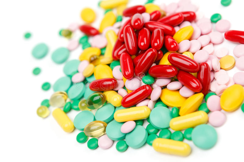 Suplemento à vitamina dos comprimidos fotos de stock