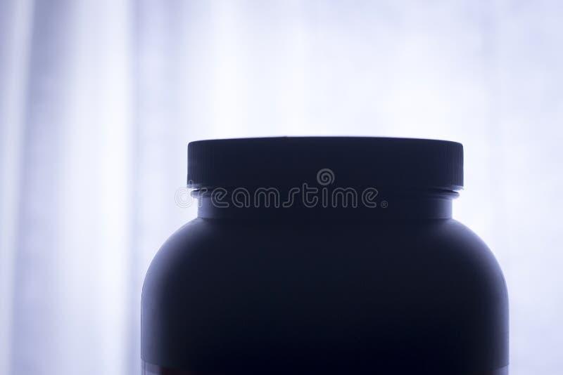 Suplemento del polvo de la proteína foto de archivo