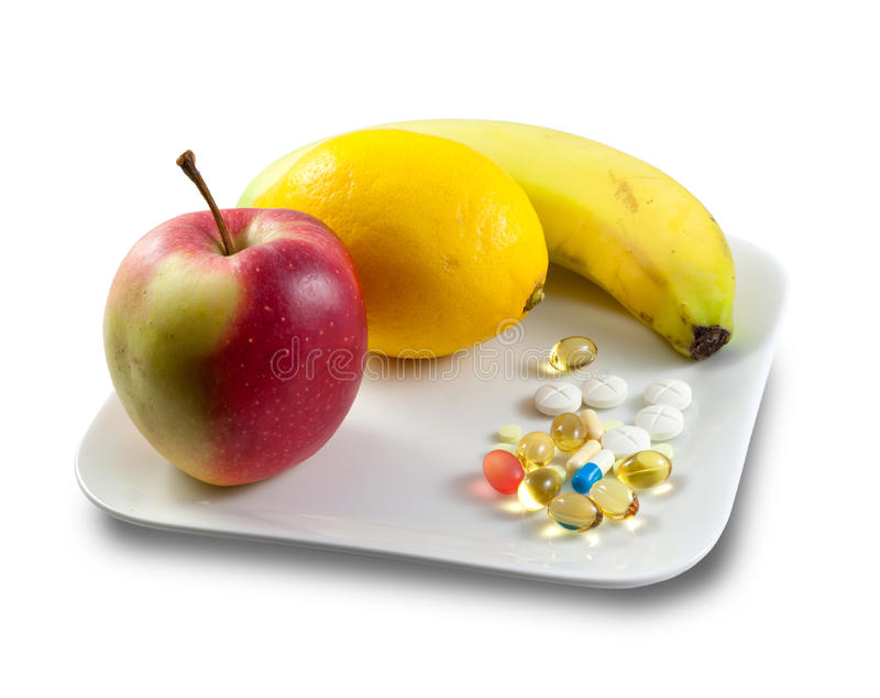 Suplemento dietético imagens de stock royalty free