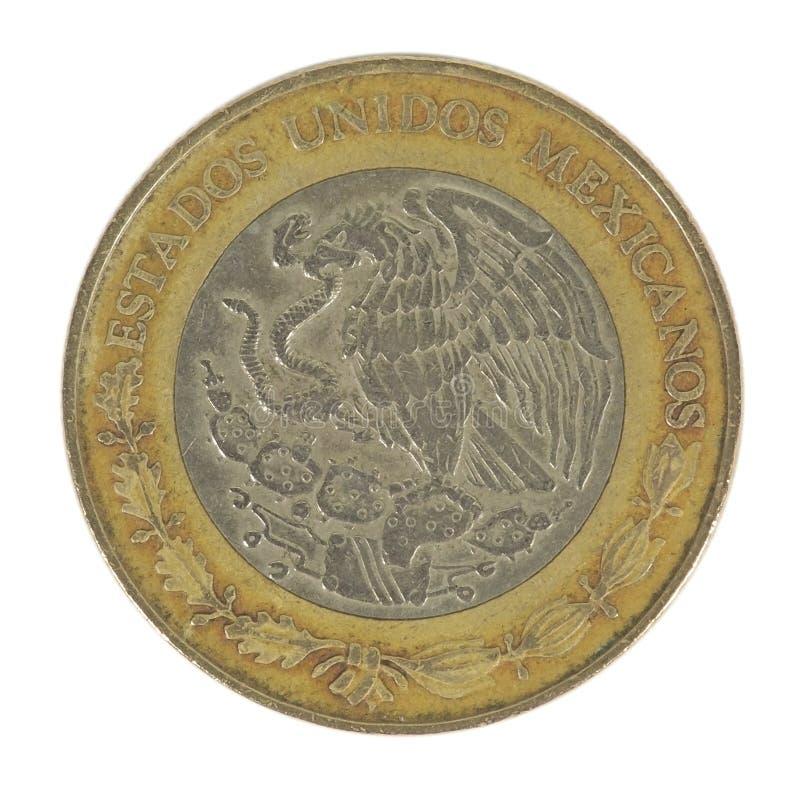 Suporte da moeda de 5 pesos foto de stock