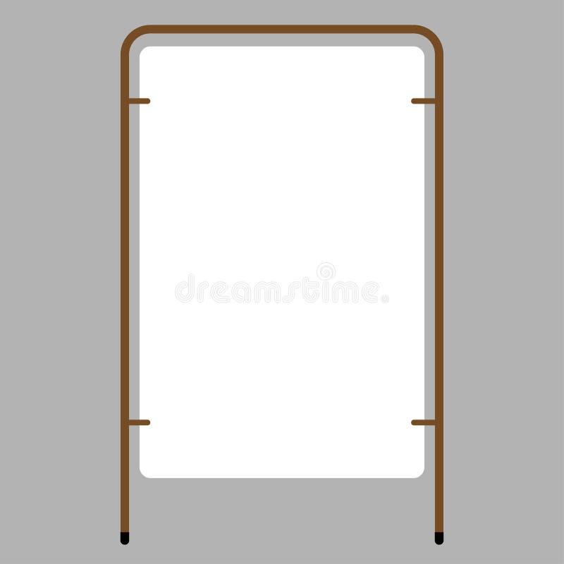 Suporte de anúncio vazio exterior com o quadro ilustração royalty free