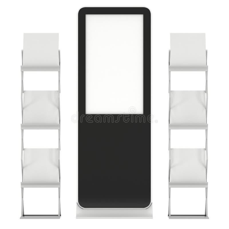 Suporte de exposição do LCD e cremalheira de compartimento ilustração royalty free