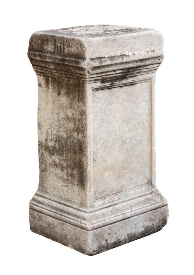 Suporte de pedra romano antigo fotografia de stock