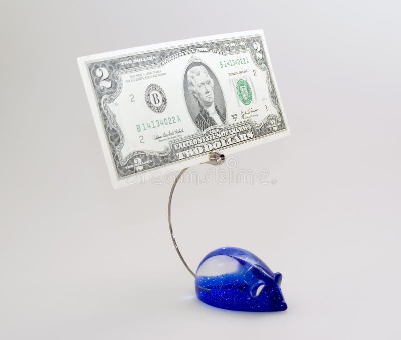Suporte Do Papel Para Cartas Com Dólar Fotografia de Stock