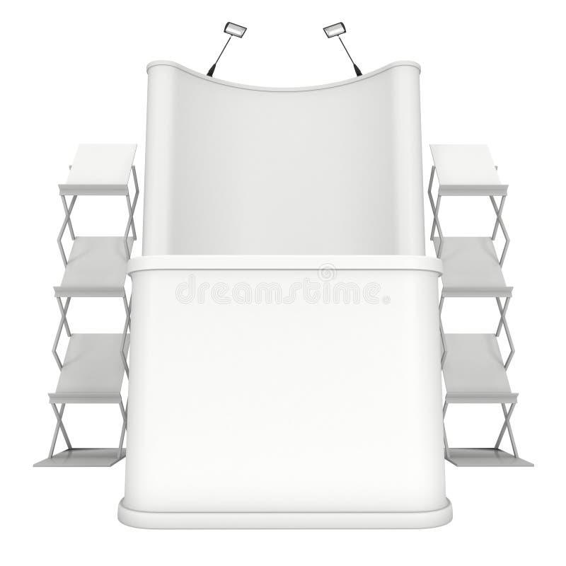 Suporte do PNF-acima com mesa de recepção e cremalheira de compartimento ilustração stock