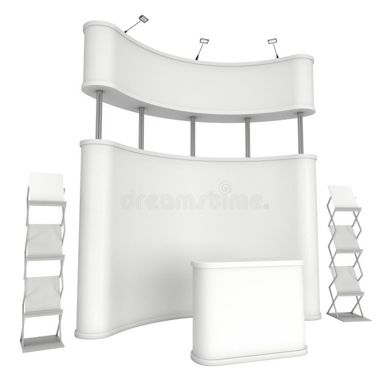 Suporte do PNF-acima com mesa de recepção e cremalheira de compartimento ilustração royalty free