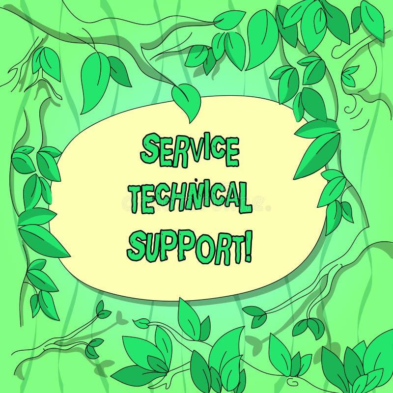 Suporte laboral do serviço do texto da escrita Conceito que significa os serviços que as entidades proporcionam aos usuários de r fotografia de stock