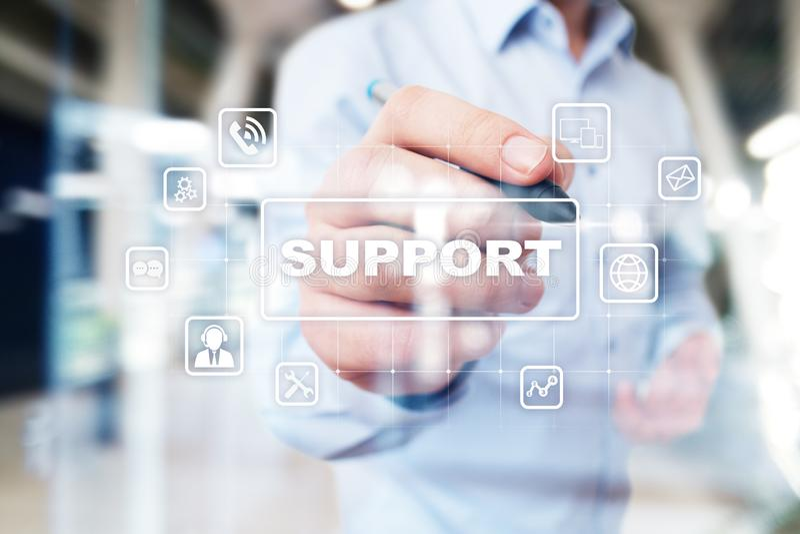 Suporte laboral e serviço ao cliente Conceito do negócio e da tecnologia imagem de stock royalty free