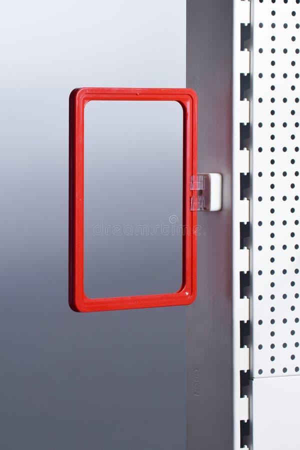 Suporte magnético do sinal do suporte do preço fotografia de stock royalty free