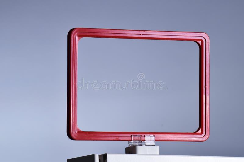 Suporte magnético do sinal do suporte do preço imagem de stock royalty free
