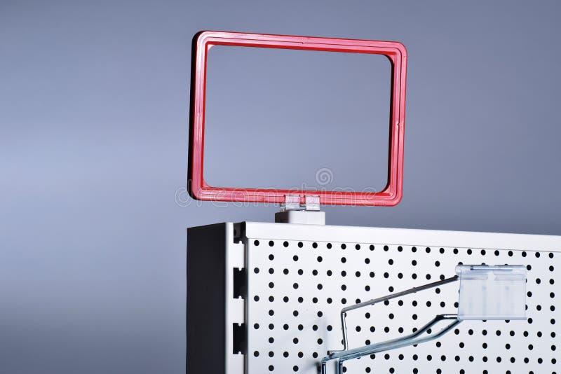 Suporte magnético do sinal do suporte do preço fotos de stock