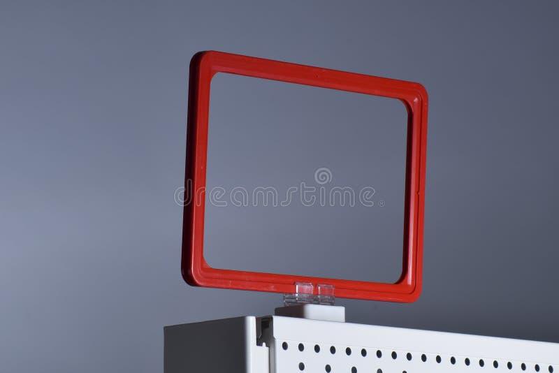 Suporte magnético do sinal do suporte do preço foto de stock royalty free