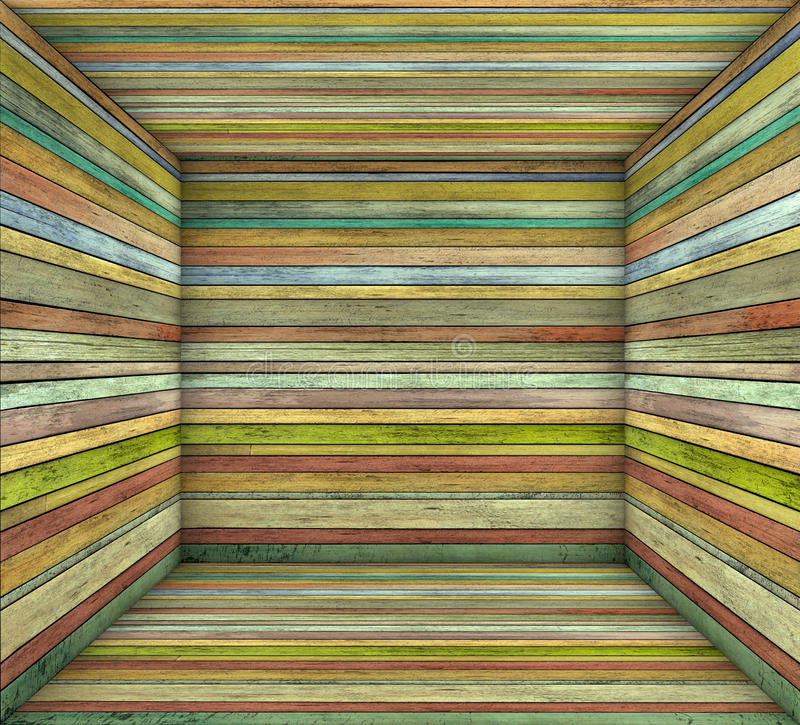 Suporte o espaço vazio do quadrado múltiplo de madeira da prancha da cor ilustração do vetor