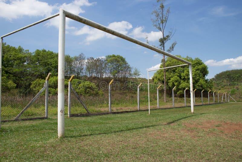 Suporte que do futebol eu quero fazer o objetivo! fotos de stock royalty free