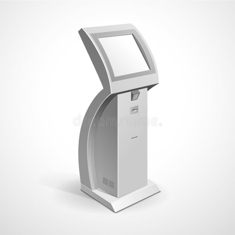 Suporte terminal do monitor de exposição da informação ilustração stock