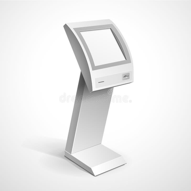 Suporte terminal do monitor de exposição da informação ilustração do vetor