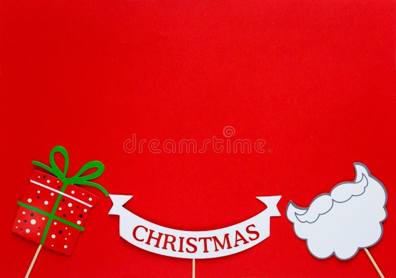 Suportes coloridos da cabine da foto para a festa de Natal imagens de stock