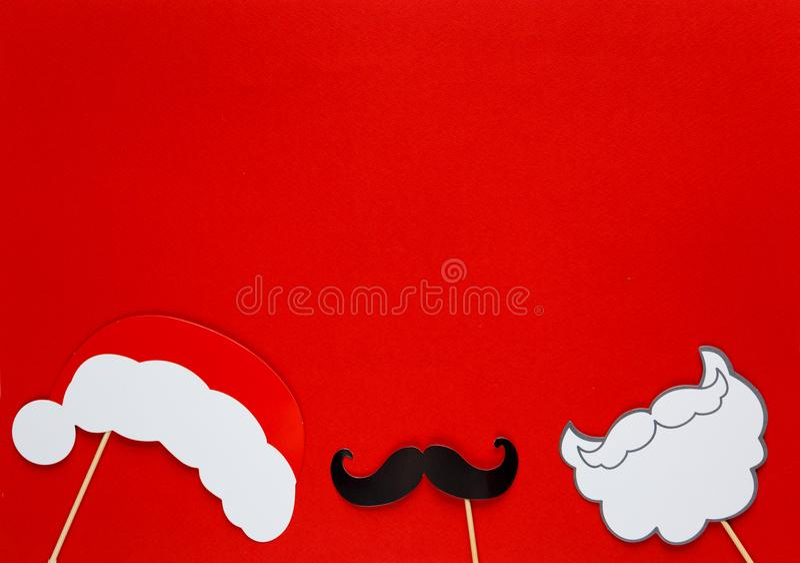 Suportes coloridos da cabine da foto para a festa de Natal foto de stock royalty free