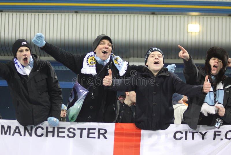 Suportes da cidade de FC Manchester fotografia de stock royalty free