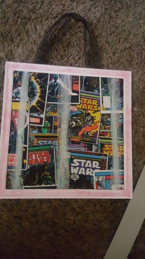 Suportes da curva da menina dos Star Wars fotos de stock