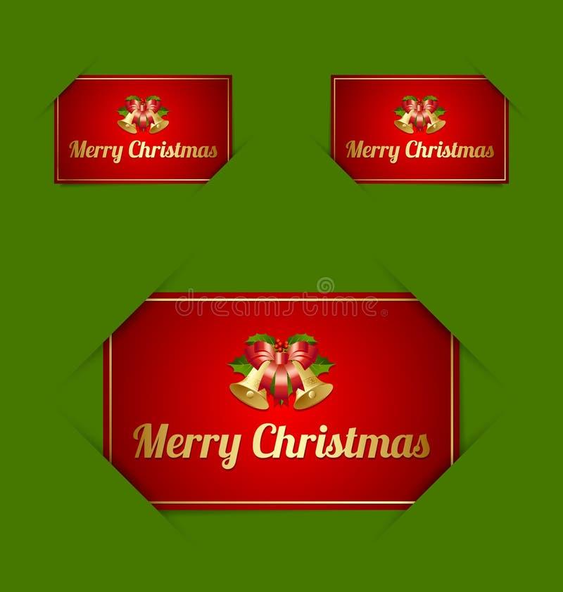 Suportes de cartão do Feliz Natal ilustração stock