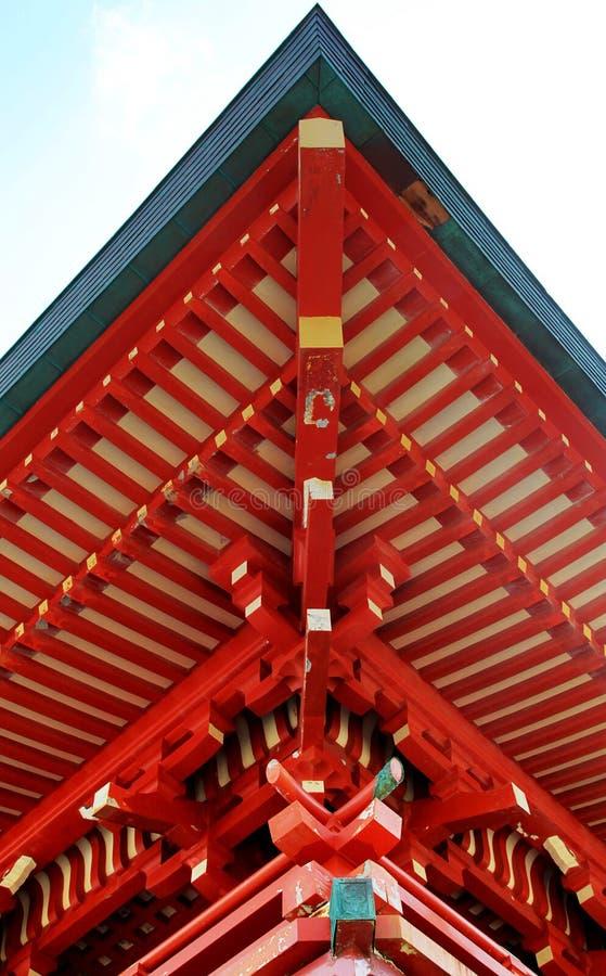 Suportes e telhado de madeira fotografia de stock royalty free