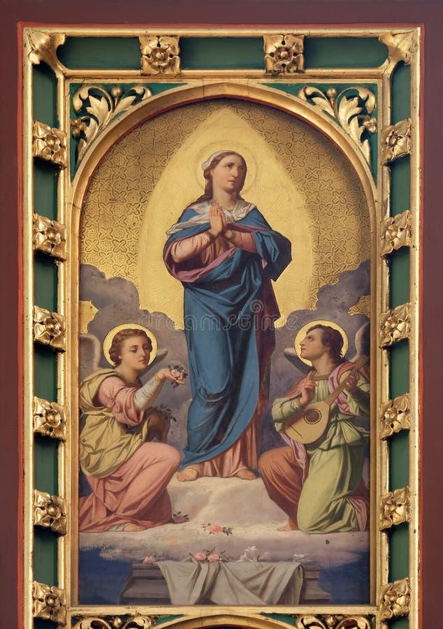 Suposição de Virgem Maria fotos de stock