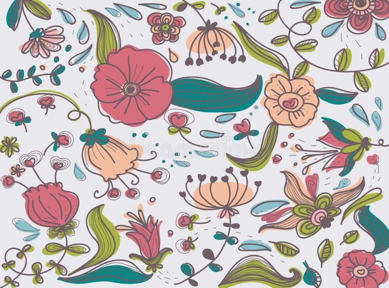 Suposición elegante de las flores ilustración del vector