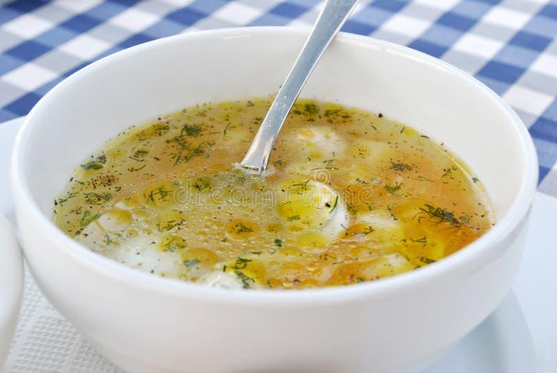 Suppe mit Fleischklöschen stockbilder