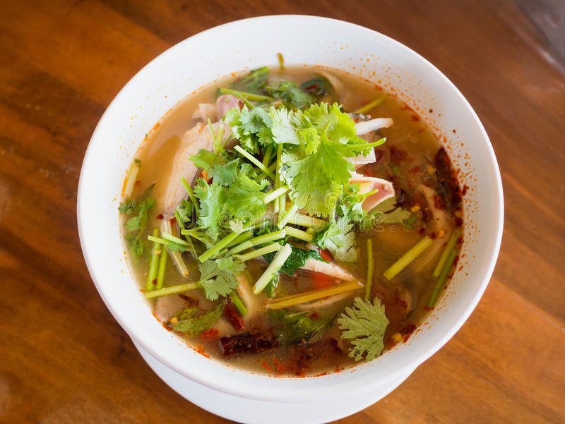 Suppe Tom-Yum stockfotografie