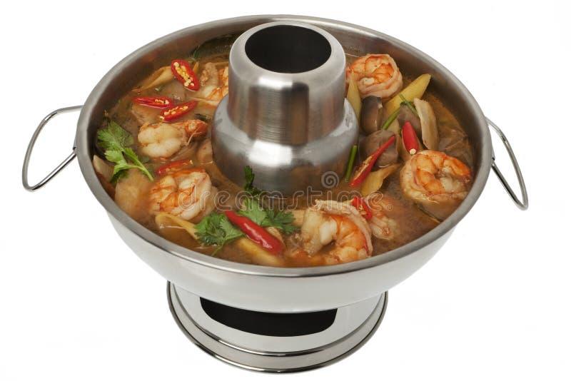 Suppe Tom-Yum Goong, Feuerpotentiometer stockbild