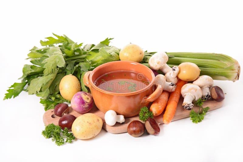 Suppe und Bestandteil stockfoto