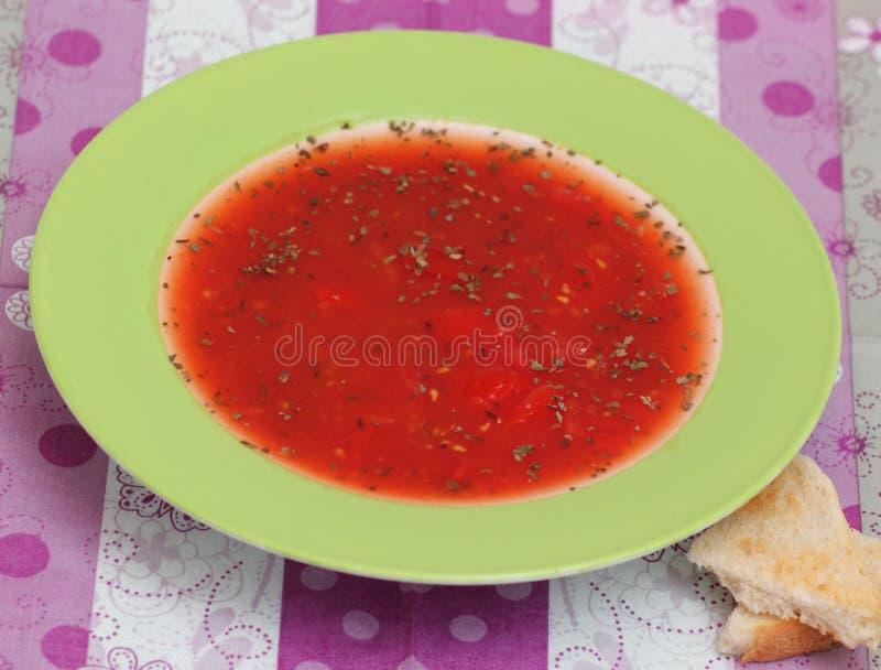 Suppe von Tomaten lizenzfreie stockbilder