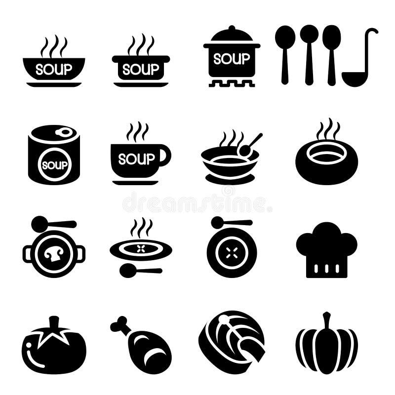 Suppen-Ikone stock abbildung
