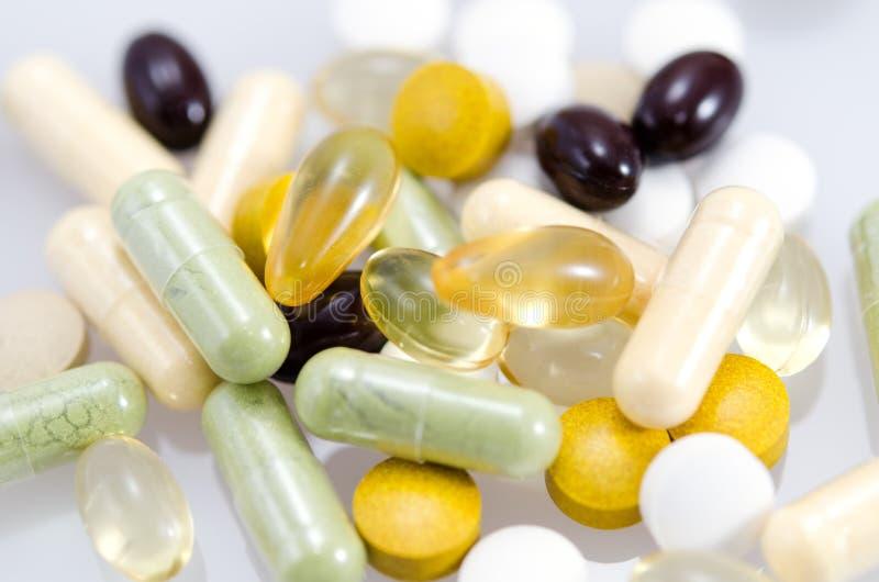 Suppléments diététiques. photographie stock libre de droits