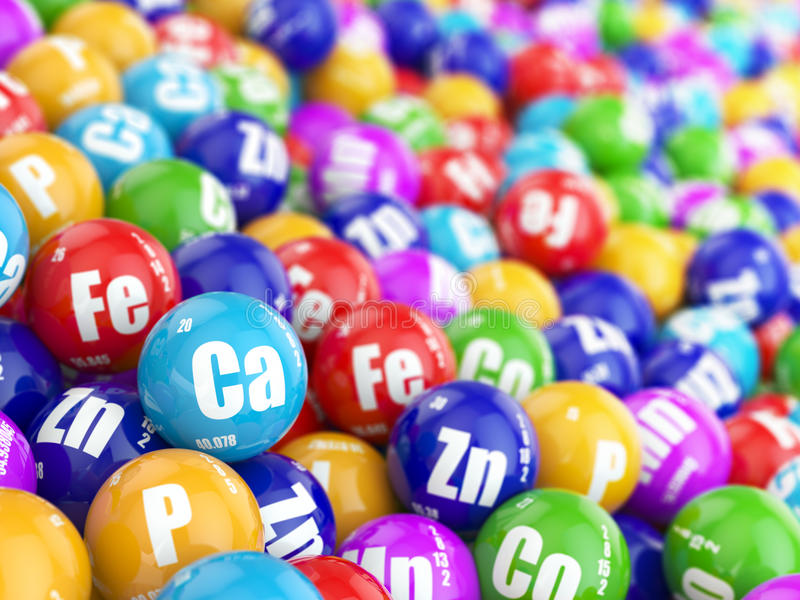 Suppléments diététiques Pilules de variété Capsules de vitamine illustration de vecteur