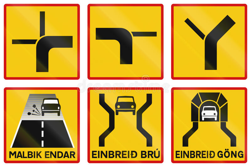 Supplementary Road Signs In Iceland royalty free illustration