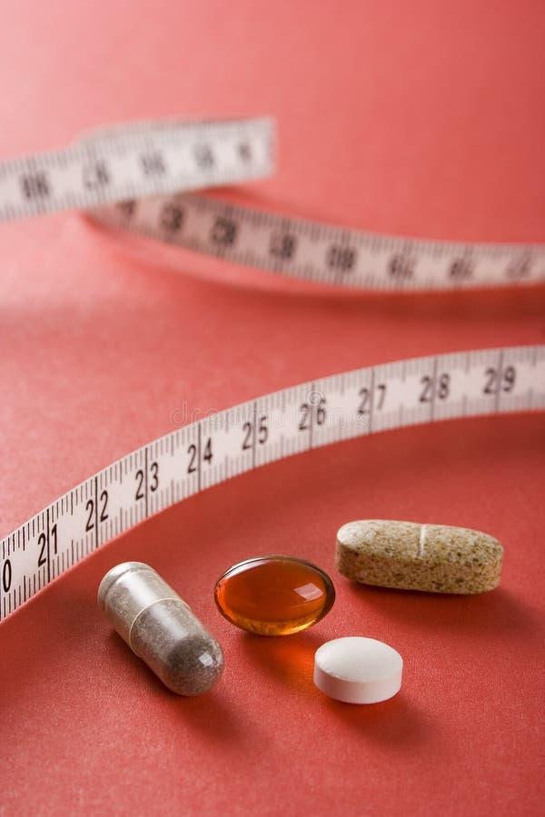 Supplemento della dieta (rossa) immagine stock libera da diritti